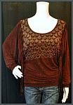 Burgundy Dolmen Style With Fringed Sleeves