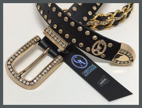 CA-Black & Gold Chain Belt