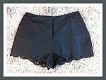 Black Shorts - Petal Cut-Outs