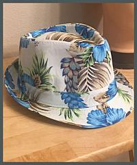 Tropical Blue Flower Fedora