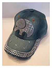 Denim Ball Cap - Elephant