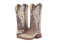 Corral - Brown Crater Distressed & Ivory Embroidered