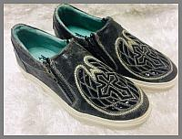 Corral Sneakers - Black Cross & Wings Inlay & Embroidery