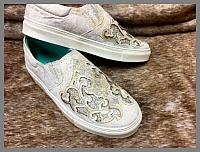 Corral Sneakers - White Glitter Inlay & Embroidery Slip-On
