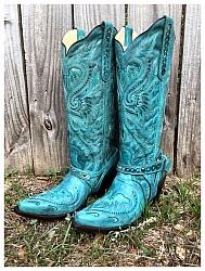 #2525 Corral - Turquoise Inlay & Embroidery