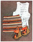 Rust Tribal Mini Skirt